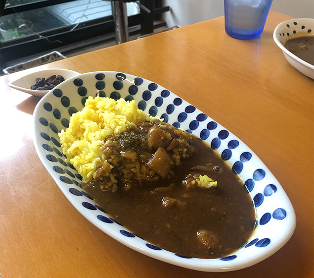 京都 Cafeゆるり 牛筋カレー
